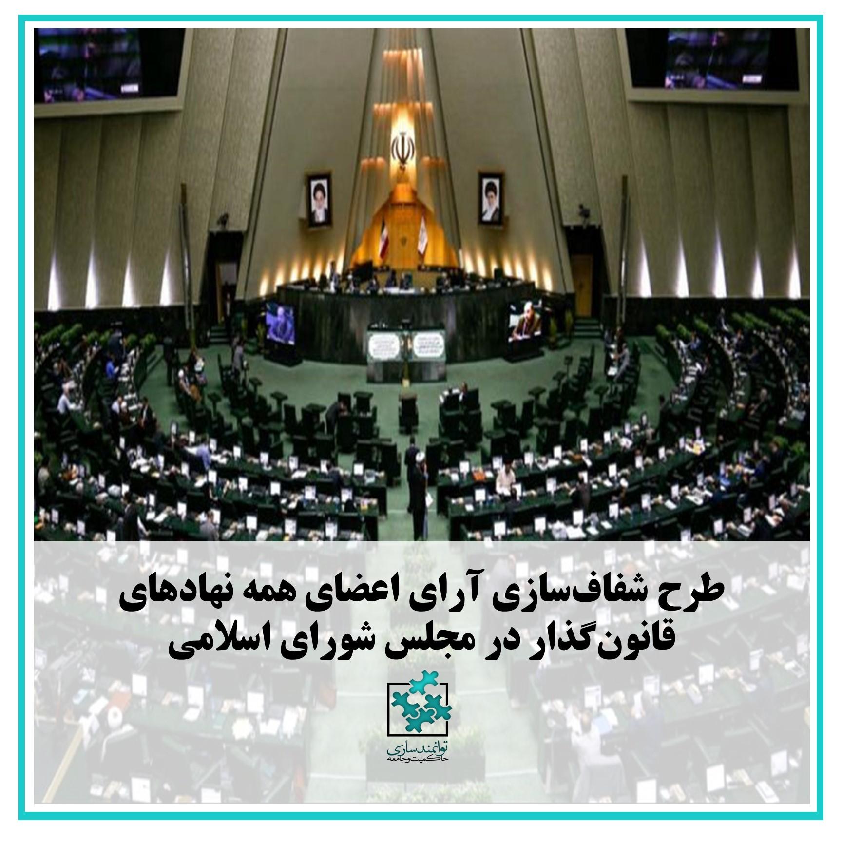 طرح شفاف سازی آرای اعضای نهادهای قانون گذار در مجلس